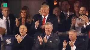 Nationals Fans Boo Trump [Video]