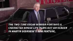 News video: Robert De Niro on being de-aged in 'The Irishman'
