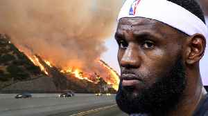 Lebron James FORCED To Evacuate Home After LA Wildfires THREATEN To Burn His Mansion [Video]