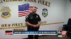 Pinellas Park police officer rushes into burning home to save 73-year-old man trapped inside [Video]