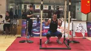 Chinese CBA player shows off world's strongest squat [Video]