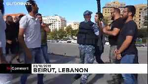 News video: Hezbollah supporters attack anti-government protest site in Beirut