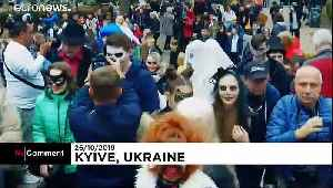 Zombie invasion in Kyiv ahead of Halloween [Video]
