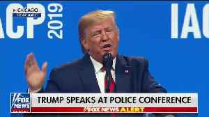 Trump targets Jussie Smollett in speech to Chicago police group [Video]