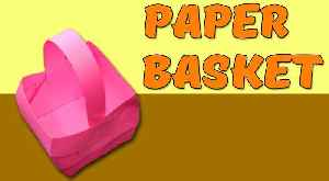 How To Make DIY Paper Basket | Step By Step | Craft Tutorials [Video]
