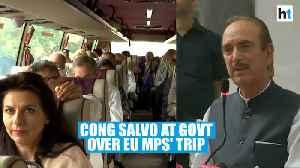 'Indian MPs barred from J&K': Congress attacks Centre amid EU MPs' trip [Video]