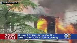 Three Houses On Fire After Plane Crash In New Jersey [Video]