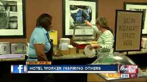 Hotel worker in Tampa goes above and beyond to make cancer patients smile [Video]