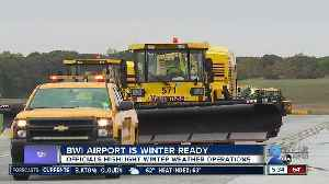 News video: BWI Airport prepares for the winter with weather operations