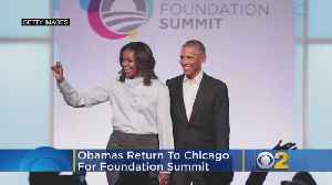Obamas Return To Chicago For Foundation Summit, New Renderings Of Presidential Center Revealed [Video]