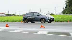 Nissan Electric All-Wheel-Control Technology Test Car on the track [Video]