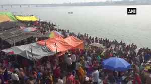 Devotees take holy dip in Yamuna on occasion of Yama Dwitiya in Prayagraj [Video]