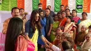 Nusrat Jahan, Mimi Chakraborty celebrate 'Bhai Phonta at Kolkata old age home [Video]