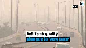 News video: Delhi's air quality takes a hit post Diwali, plunges to 'very poor' category