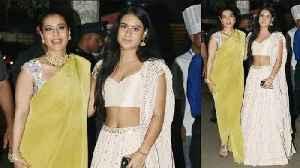 Kajol With Daughter Nyasa At Amitabh Bachchan's Grand Diwali Party 2019 [Video]