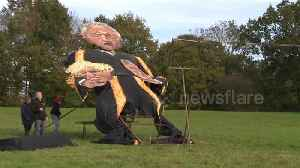 News video: Bercow, Johnson and Corbyn effigies to be burnt at famous Edenbridge Bonfire Night event in Kent