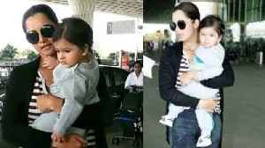Sania Mirza keeps it simple in comfy ensemble with son Izhaan for airport look [Video]