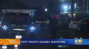 News video: Man Lying In Street, Shot Near Fort Worth Arpartments