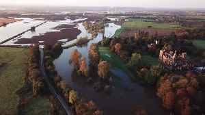 Heavy rainfall has caused the river to burst its banks in Newark, Nottinghamshire you [Video]