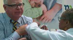 Governor Walz Gets His Flu Shot [Video]