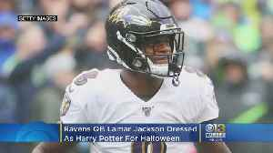 Ravens QB Lamar Jackson Isn't A Harry Potter Fan, But He Still Rocked 'The Boy Who Lived's' Look This Halloween [Video]