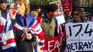 Brexit supporters rally outside UK Parliament on now-extended October 31 deadline [Video]