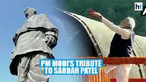 PM Modi pays tribute to Sardar Patel at Statue of Unity in Gujarat [Video]