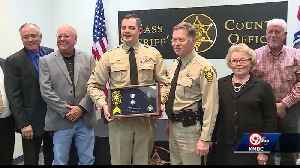 Cass County deputy honored for saving another deputy's life [Video]