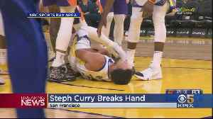 Stephen Curry Suffers Broken Left Hand As Warriors Lose To Suns 121-110 [Video]