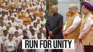 News video: 'Run for Unity': Nation celebrates Sardar Patel's 144th birth anniversary