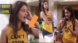 Ananya Panday is celebrating her 21st birthday With Paparazzi Juhu [Video]