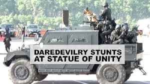 Watch: NSG, NDRF, CISF showcase daredevilry stunts at Statue of Unity [Video]