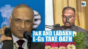 Girish Chandra Murmu takes oath as J&K L-G, RK Mathur as L-G of Ladakh [Video]