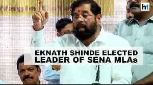 News video: Eknath Shinde, not Aaditya Thackeray elected leader of Shiv Sena MLAs