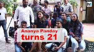 Ananya Panday turns 21, celebrates birthday with media [Video]