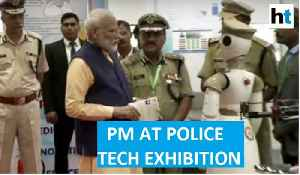 Watch: PM Modi with robot at police technology exhibition in Kevadia [Video]