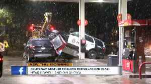 MPD squad car takes out gas pump on Milwaukee's south side [Video]