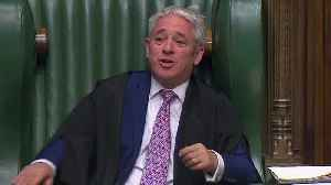 MPs pay tribute to outgoing Speaker John Bercow [Video]