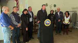 California Governor Visits Mobile Home Park Where Elderly Residents Went Days Without Power [Video]