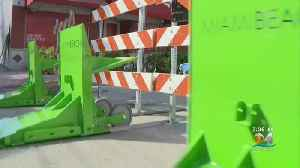 New Vehicle Barriers Put Up Around Miami Beach To Protect Pedestrians At Halloween Street Party [Video]