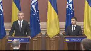 News video: NATO chief in Ukraine says Russia must withdraw troops