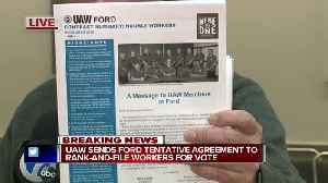 UAW sends Ford tentative agreement to rank-and-file workers for vote [Video]