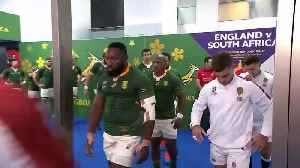 Teams walk out for Rugby World Cup Final [Video]