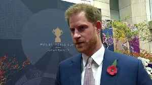 Prince Harry previews Rugby World Cup 2019 final (1) [Video]