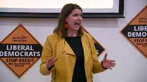 News video: Swinson: I'd be a better PM than either Johnson or Corbyn