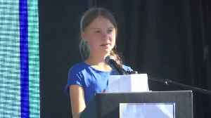 Greta Thunberg call to fight global warming cheers LA rally [Video]
