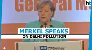 Angela Merkel bats for electric buses to tackle Delhi pollution [Video]