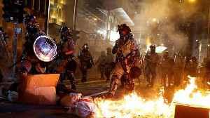 Xinhua offices burned as Hong Kong protests enter 22nd week [Video]