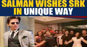 Salman Khan wishes Shah Rukh Khan in the actor's signature style, Video viral [Video]