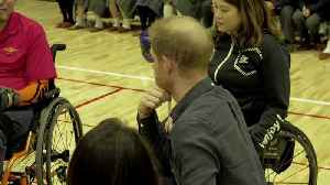 Britain's Prince Harry meets paralympian hopefuls in Tokyo [Video]